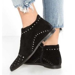 Free People Aquarian Black Ankle Boots